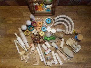 pièces détachées en bois pour paniers aux trésors