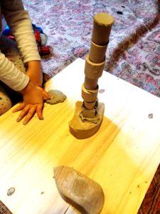 tour en bois et argile