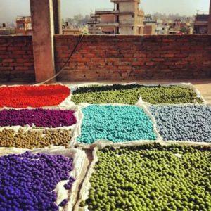 Boules de laine feutrée