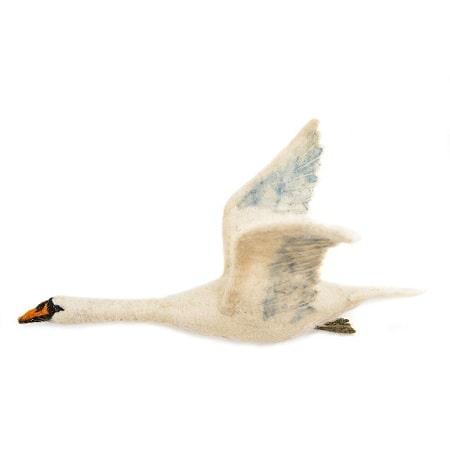 sew-heart-felt-vol-oiseau-cygnes-flying-swan-laine