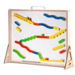 jouet-en-bois-tableau-magnétique-magnetic-wall-rampes-labyrinthe