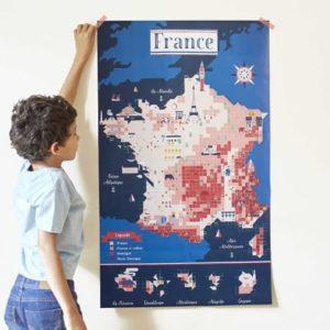 poppik-carte de france-loisirs creatifs- activité manuelle - stickers - gommettes