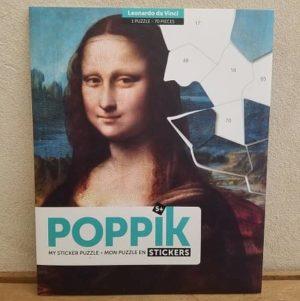 poppik-stickers-puzzle gommettes-art-de-vinci- joconde