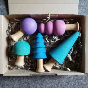 ocamora-jouet-bois-abres-5-pièces-tons-froids