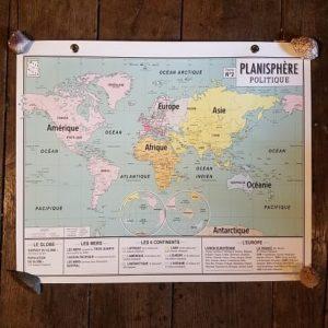 carte-emile-en-ville-affiche-scolaire-vintage-carte-geographie-planisphere