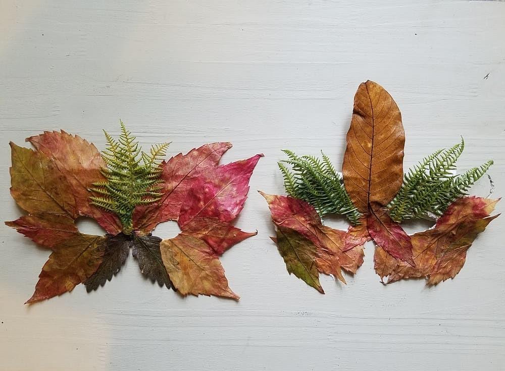 masque-de-feuilles-activité-automne-enfant-bricolage