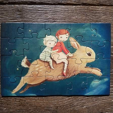 puzzle-enfant-new-york-compagnie-dream-world-buny-dreamer-20-pièces