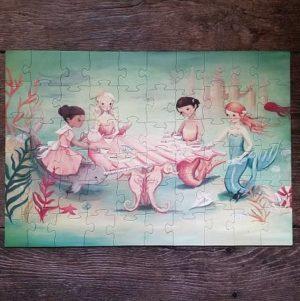 puzzle-enfant-new-york-compagnie-dream-world-waldorf-mermaid-tea-party-sirene-60-pieces