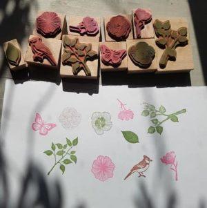 tampons-martha- stewart-bois-fleur-printemps-enfant-scrapbooking