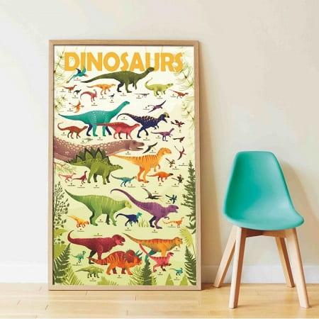 poster-geant-dinosaures-poppik-gommettes-activité-enfant
