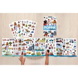 poster-en-stickers-frise-historique-du-monde-poppik-enfant