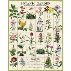 puzzle-1000-pièces-cavallini-botanic-garden-fleurs