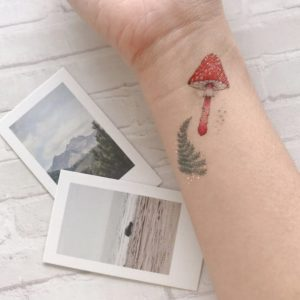 tatouage-enfant-paperself-foret-champignon-automne