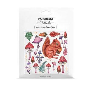 tatouage-enfant-paperself-foret-ecureuil-automne
