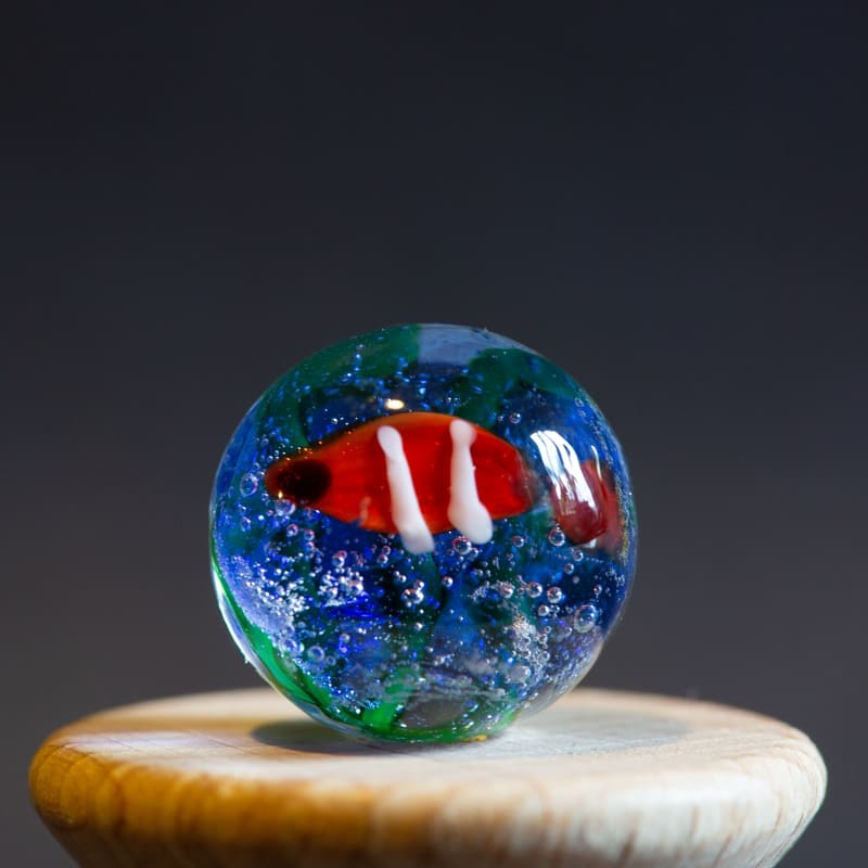 billes-de-collection-poisson-rouge