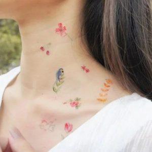 tatouages-tatoo-enfant-doodle-fleurs-ptintemps-paperself