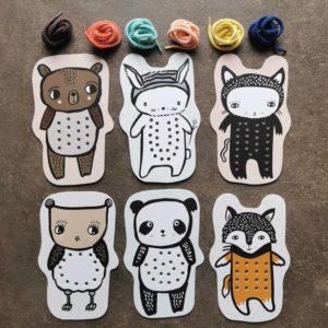 carte-a-lacer-jeu-de-laçage-wee-gallery-bebe-animaux